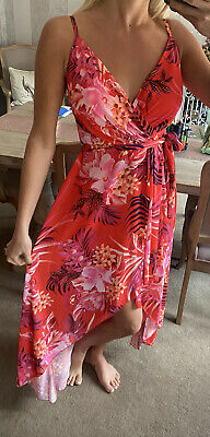£19.99 • Buy Lipsy Orange Strappy High And Low Dress Size 12 (10) New With Tags
