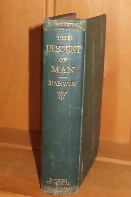 £499.99 • Buy 1874 THE DESCENT OF MAN By CHARLES DARWIN 2nd ED EVOLUTION NATURAL SELECTION *