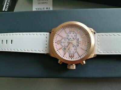 £85 • Buy Authentic TW Steel Marc Coblen Chronograph Rose Gold Pink Mop Dial & 4 Straps