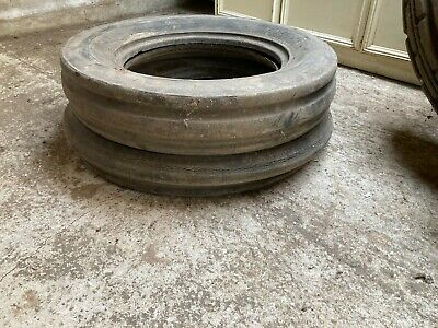 £13.49 • Buy Vintage Old Front Wheel Tractor Tyres X 2 Ideal Raised Bed Garden