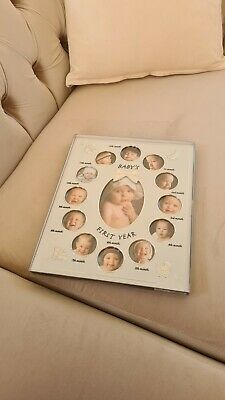 £6 • Buy Baby First Year Photo Frame New