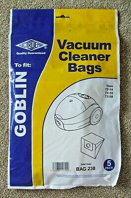 £1.70 • Buy 5x Electrupart Goblin Vacuum Cleaner Hoover Bags.for Topo 73154/73155/73158.new