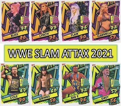 £0.99 • Buy WWE Slam Attax 2021 - SUPERSTAR, TAG TEAM, FACTION & FINISHER Cards #1 To #250