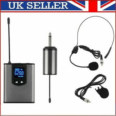 £24.69 • Buy UHF Wireless Lavalier Lapel Microphone System Headset MIC  Receiver Transmitter
