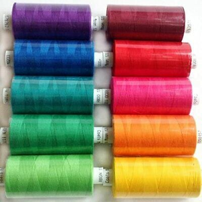 £9.99 • Buy Coats Moon Thread Sewing Machine Polyester Cotton Mixed Colours Brights
