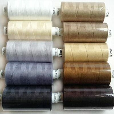 £9.99 • Buy Coats Moon Thread Sewing Machine Polyester Cotton Mixed Colours Browns