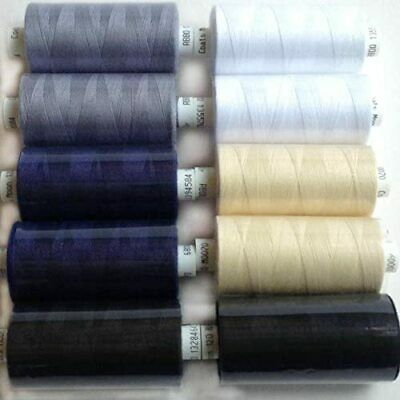 £9.99 • Buy Coats Moon Thread Sewing Machine Polyester Cotton Mixed Colours Grey Mix
