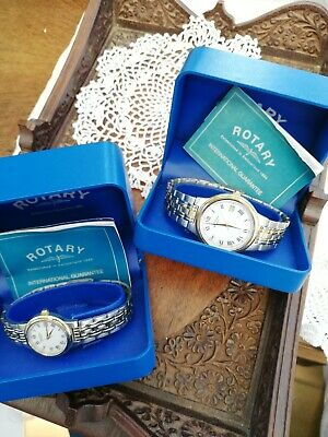 £23 • Buy His N Hers  Rotary  Watches Unused Presents Still In Boxes Stainless Steel.