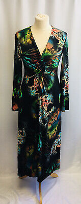 £15 • Buy NES Collection Colourful Print Ladies Long Sleeve Dress Size UK10