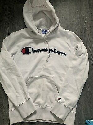 £2.85 • Buy X Small White Champion Hoodie Jumper