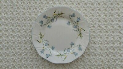 £3.99 • Buy Queens Rosina Harebell Blue Flowers Side Plate, Vintage Fine Bone China