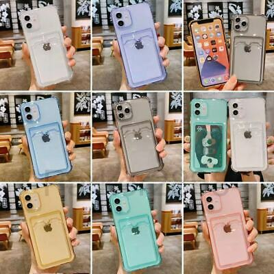AU6.66 • Buy Case For IPhone 12 11 Pro Max Mini XS XR 8 7 Plus Shockproof TPU Card Slot Cover