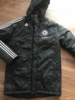 £39 • Buy Adidas Chelsea Fc Official Padded Hooded Black Jacket  Size. Large