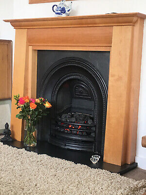 £180 • Buy Electric Fire With Cherry Wood Surround And Slate Hearth