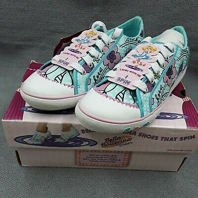 £25 • Buy Bella Ballerina By Skechers Shoes That Spin Size 4/37 Blue Floral Lace-up