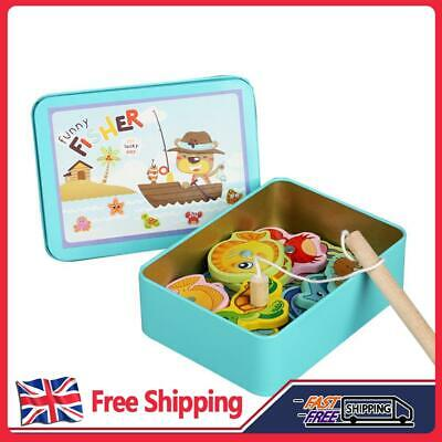 £6.59 • Buy Wooden Magnetic Fish Toys Kids Educational Fishing Magnet Puzzle Game Xmas Gift