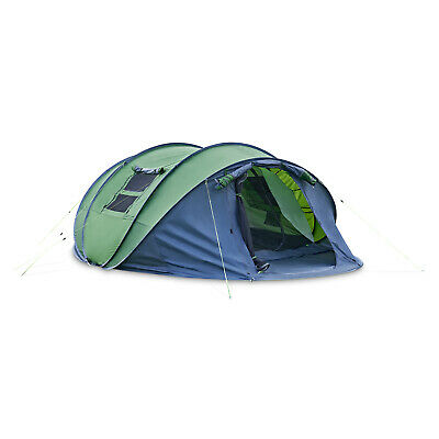 £59.95 • Buy 5-6 Person Hexagon Pop Up Tent Camping Festival Hiking Shelter Family Portable