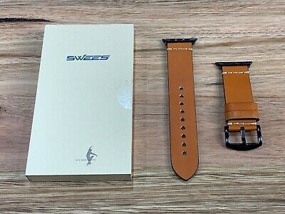 AU18 • Buy 42mm 44mm Apple Watch Band Brown Swees Genuine Leather