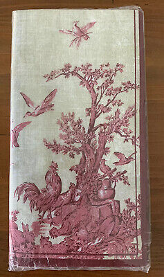 £12.28 • Buy IHR Red French Toile Print 3ply Paper Guest Buffet Napkin Hand Towels NEW