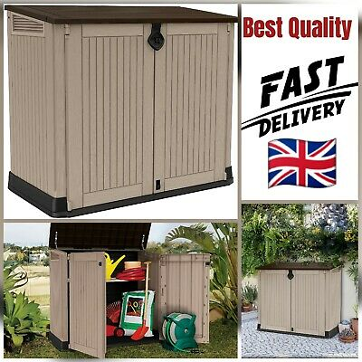£189.99 • Buy Keter Store It Out MAX Garden Lockable Storage Box XL Shed Outside Bike Bin Tool