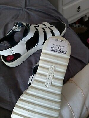 £9 • Buy White Summer Gladiator Sandals By ECCO Size 3
