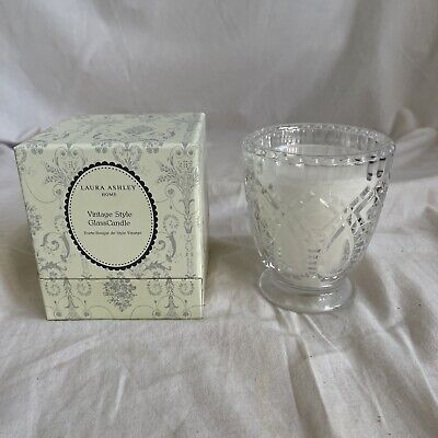 £9.99 • Buy Laura Ashley Vintage Style Glass Candle Holder - New - Boxed