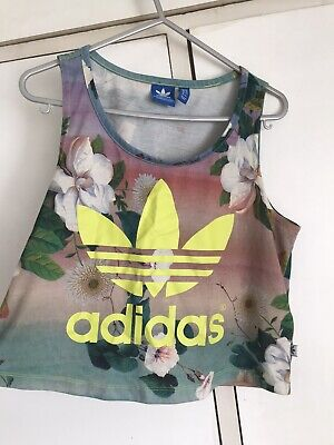 £1.30 • Buy Adidas Womens Floral Tank Top - Sleeveless - Size 12