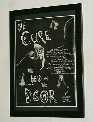 £13.99 • Buy THE CURE Framed A4 1985 `head Of The Door` ALBUM Original Band Promo ART Poster
