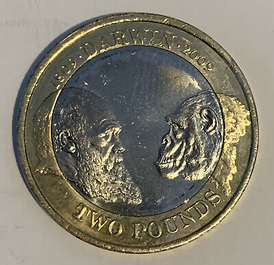 £2.19 • Buy £2 Coin 2009 Two Pound Coin Charles Darwin. Monkey Or Scientist.  Evolution
