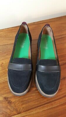 £20 • Buy Moshulu Flat Suede Loafer Shoes Size 7 Black Worn Twice (F94)