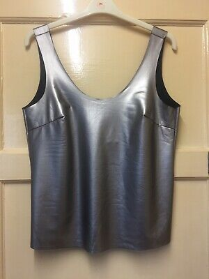 £20 • Buy Wimens Stunning Shiny Grey Silver Top Size 10 By Louche