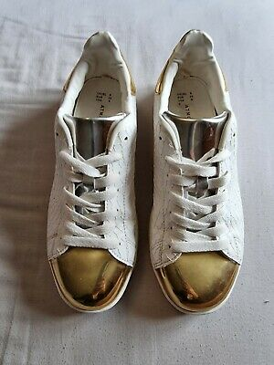 £3 • Buy Primark Atmosphere Trainers - White/Gold/Silver - Size UK6 - Used