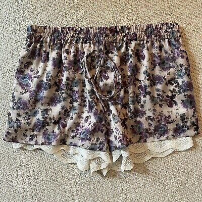 £5 • Buy Zara Lined Soft Shorts With Lace Trim Size Small