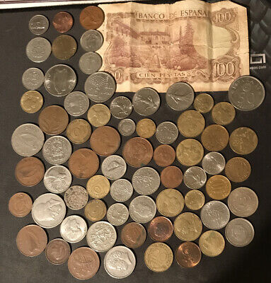 £4.99 • Buy JOB LOT BUNDLE OF 65+ MIXED FOREIGN COINS Mostly European Pre-Euro