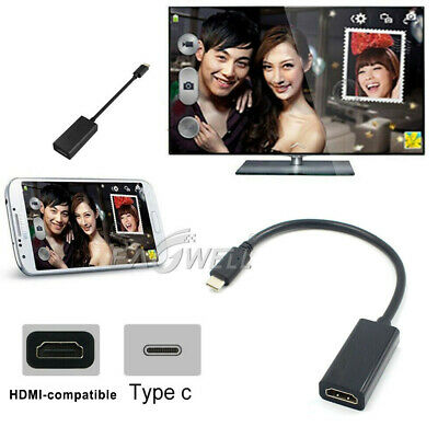 $8.56 • Buy USB Type C To Female HDMI HD TV Cable Adapter 60Hz For Monitor Projector MacBook