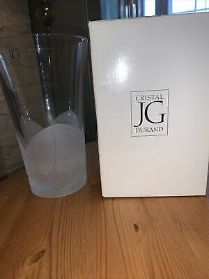 £25 • Buy JG Durand 'Florence' Heavy Crystal Vase New In Box 8inch High