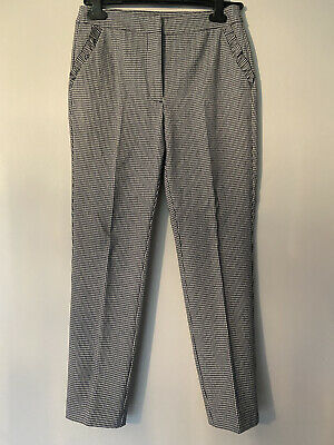 £5 • Buy Zara Dogtooth Check Slim Trousers Size 6/small