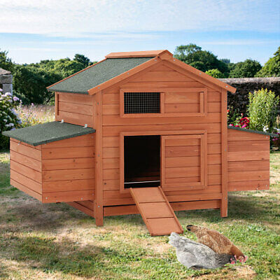 £299.95 • Buy Deluxe Large Chicken Coop Hen Poultry Ark House Nest Box Home Hutch Shelter Cage