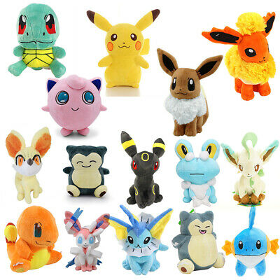 AU15.99 • Buy Rare Pokemon Collectible Plush Doll Character Soft Toy Stuffed Teddy Best Gifts