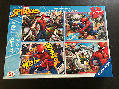 £2.50 • Buy Jigsaw Puzzle  Spiderman  Bumper Puzzle Pack 4X100. Ravensberger.