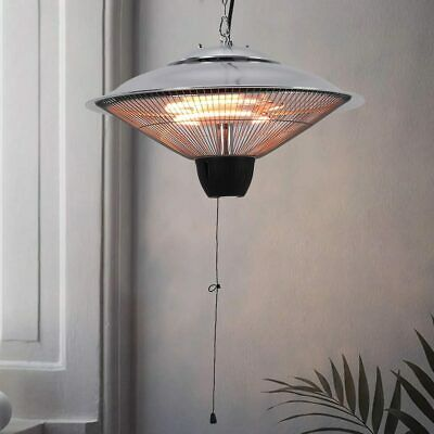£105.95 • Buy Infrared Ceiling Mounted Patio Heater 1500W Halogen Lamp Space Heating Pull Cord