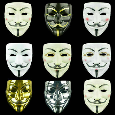 £3.89 • Buy Fancy Face Mask Hacker V Anonymous For Vendetta Guy Fawkes Xmas Party Dress