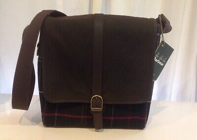 £54.99 • Buy Barbour Classic Waxed Canvas Mail/ Mesenger Bag Tartan Olive Green