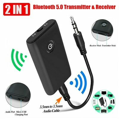 £6.59 • Buy Wireless Bluetooth 5.0 Transmitter Receiver A2DP 3.5mm Audio Jack Aux Adapter