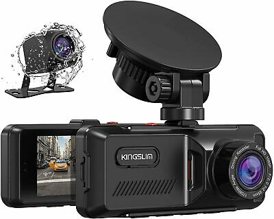 AU122.78 • Buy Kingslim D1 Dual Dash Cam With Built-in GPS 1080P Front And Rear Dash Camera