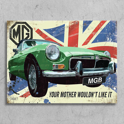 £4.99 • Buy Metal Signs Plaques Vintage Retro Style MGB Roadster Poster Garage Shed Mancave