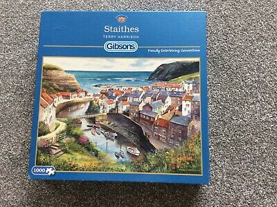 £3 • Buy Gibsons G713 1000pc Jigsaw Puzzle STAITHES By Terry Harrison 68cm X 49cm