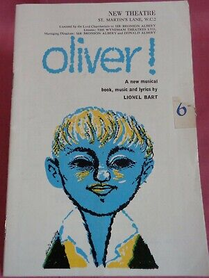 £4.99 • Buy Oliver By Lionel Bart 1960 First Years Production Programme