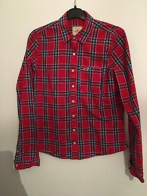 £5.99 • Buy Hollister Ladies Check Red Shirt Size M Immaculate Condition Worn Once