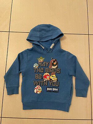 £2.99 • Buy Boys Next Star Wars Angry Birds Hoodie Age 4 *Good Condition**